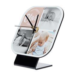Reloj de mesa cuadrado con frontal personalizado
