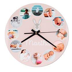 Reloj de pared redondo con frontal personalizado
