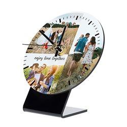Reloj de mesa redondo con frontal personalizado
