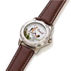 Reloj de pulsera imitación piel con esfera personalizada