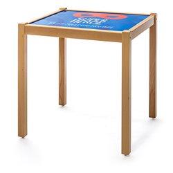 Mesa indantil para juegos con tablero personalizado