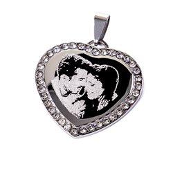 Colgante de fantasía con cadena personalizado con punta de diamante