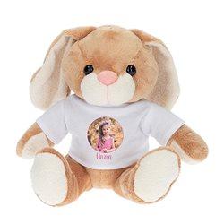 Peluche conejo con camiseta personalizada 14x19cm