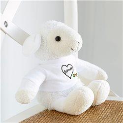 Peluche oveja con camiseta personalizada 14x20cm