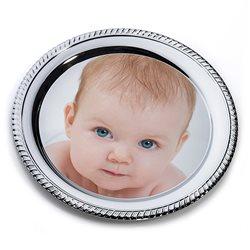 Bandeja metálica decorativa redonda personalizada con foto