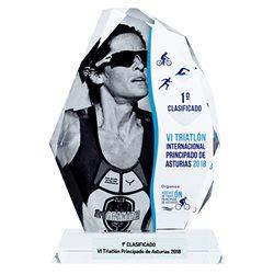 Cristal trofeo personalizado con foto