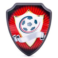 Escudo madera personalizado con foto trofeo deportivo
