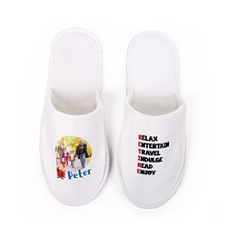 Zapatillas de viaje u hotel personalizadas en varias tallas