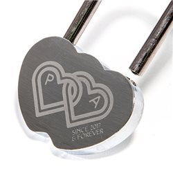 Candado del amor de 1 solo uso con grabado personalizado