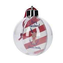 Bola para árbol de navidad con foto personalizada