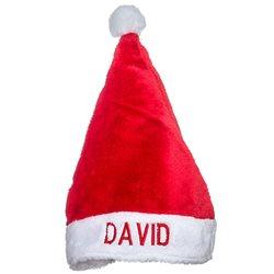 Gorro de Papa Noel con nombre bordado personalizado