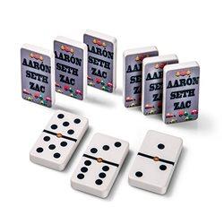 Juego de dominó con fichas personalizadas por la cara trasera