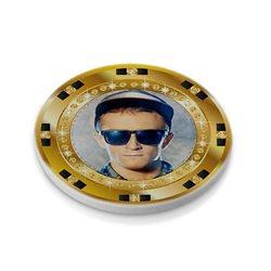 Ficha de póker 39 mm personalizada por las 2 caras