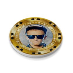 Ficha de póker 47 mm personalizada por las 2 caras