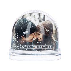 Bola de nieve con fotos personalizadas a todo color