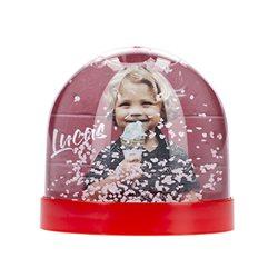 Bola de nieve con imán para nevera y foto personalizada