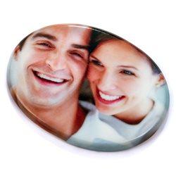 Fotonicho ovalado de cerámica con impresión a todo color