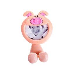 Porta cepillos de dientes infantil en forma de cerdo con ventosa