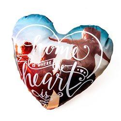 Cojín corazón personalizado a 2 caras