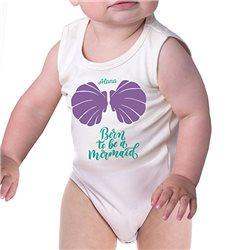 Body bebé tirantes de algodón personalizado