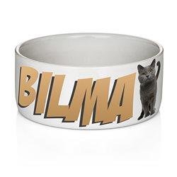 Comedero personalizado para mascotas perros o gatos