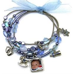 Brazalete bebé nacimiento personalizado con abalorios