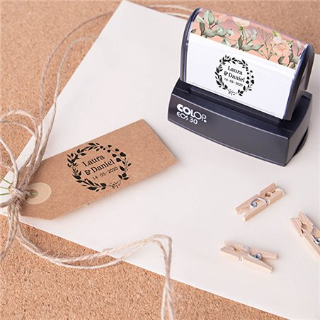 Bolígrafo giratorio y pluma en estuche de regalo