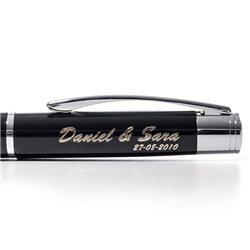 Estuche con bolígrafo automático y portaminas de aluminio
