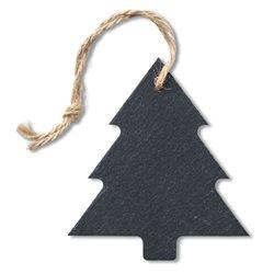 Árbol de navidad colgante en pizarra