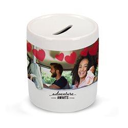Hucha de cerámica con contorno personalizado