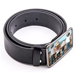 Cinturón con hebilla personalizada a todo color